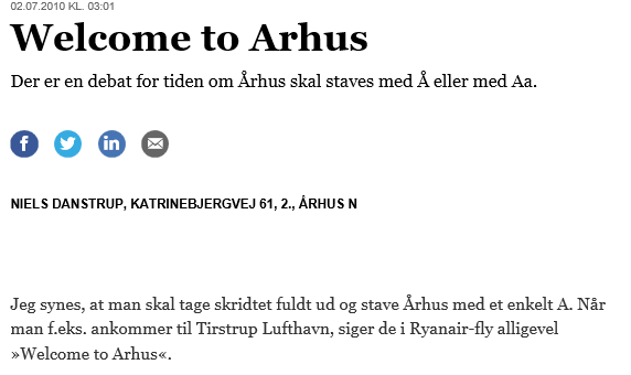 Welcome to Arhus