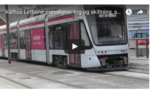 """Inden Aarhus Letbane er i drift øver de sig på """"Out of order"""" og """"ikke i drift""""."""